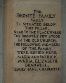 flagstone on Bronte burial place