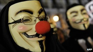 Anonymous in masks