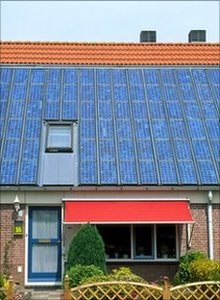 Photovoltaic cells on a house