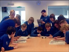School Reporters at Avon Valley College