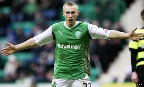 Hibs forward Danny Galbraith
