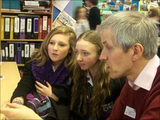BBC mentor Mark Tulip talks to the Marden High pupils