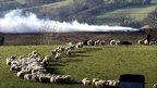 Fire in Cumbria in March 2001