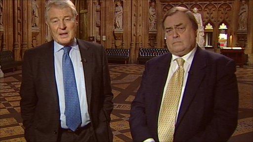 Lord Ashdown and Lord Prescott