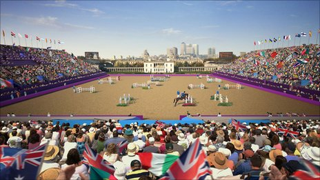 How Greenwich Park may look during the Olympics