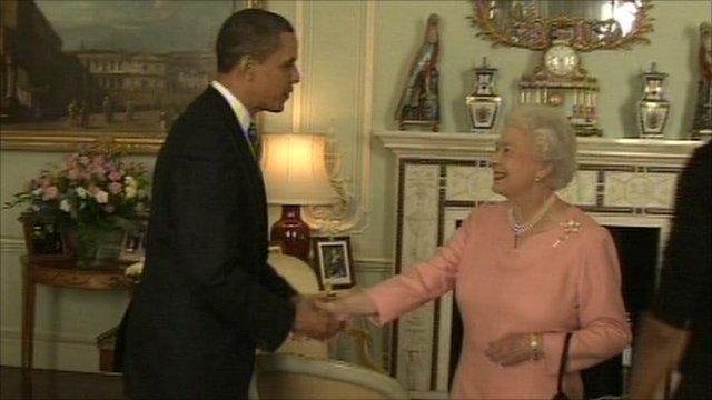 US President Barack Obama, Queen Elizabeth II