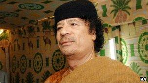 Colonel Muammar Gaddafi, file pic, 2007
