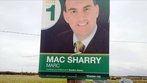 Fianna Fail election poster for Marc MacSharry (17 Feb 2011)