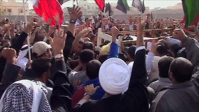 Mourners in Bahrain