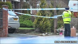 Lea Mount Drive in Bury, where a three-year-old girl was found dead