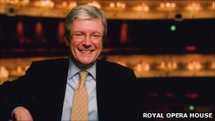 Tony Hall inside the Royal Opera House