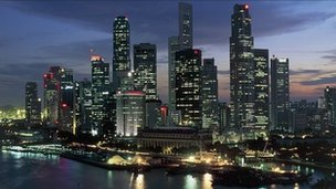 The skyline of Singapore