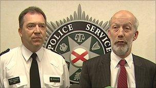 Chief Constable Matt Baggott and Justice Minister David Ford