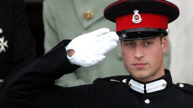 Prince William at passing out parade