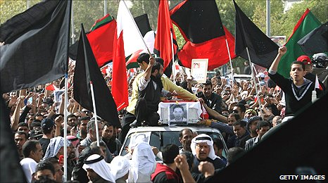 Funeral of one of the protesters killed in Manama
