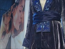 The exhibition includes costumes worn in James Cameron's Titanic which was released in 1997