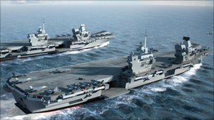 HMS Queen Elizabeth and HMS Prince of Wales