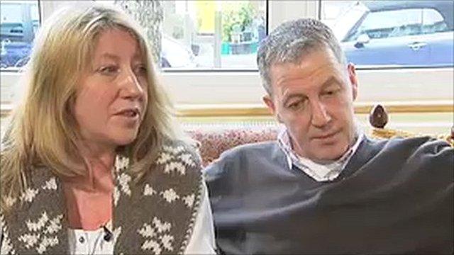 Samuel Guidera's parents Sarah and Chris