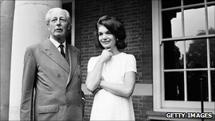 Harold McMillan and Jacqueline Kennedy 