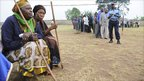 Voters wait in Rukungiri, Uganda