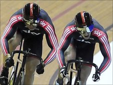 Hoy beat Kenny in the semi-final of the individual sprint