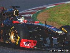 Nick Heidfeld in the Renault