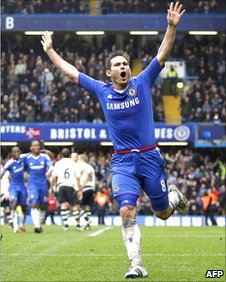 Frank Lampard celebrates the opening goal