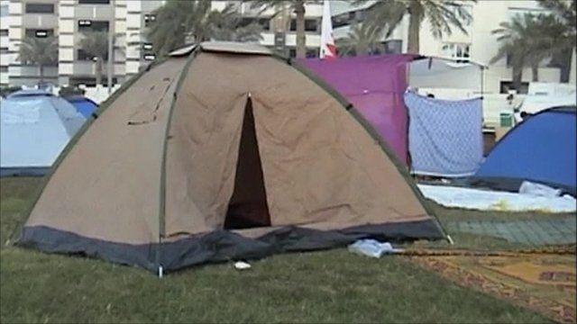 Tents in Pearl Square