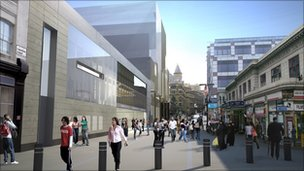 CGI image of the finished Farringdon station