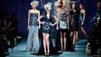 Models walk the runway at the Ashley Isham Show on 18 February