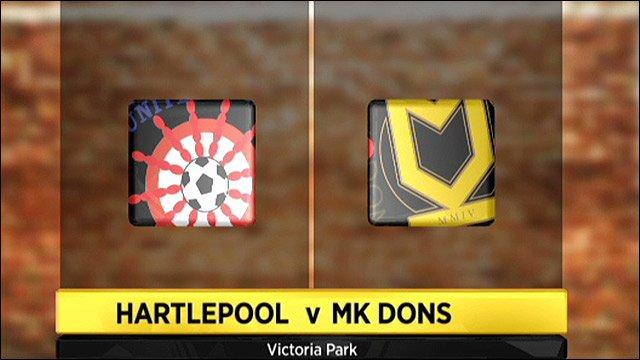 Hartlepool v MK Dons