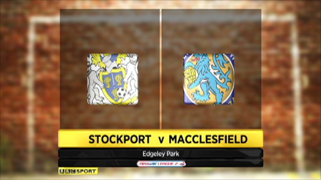 Stockport v Macclesfield