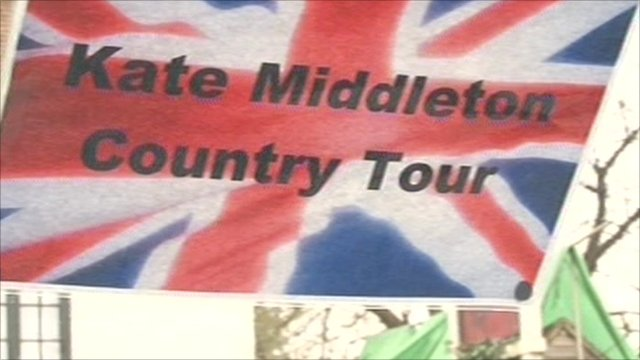 Kate Middleton Country Tour sign