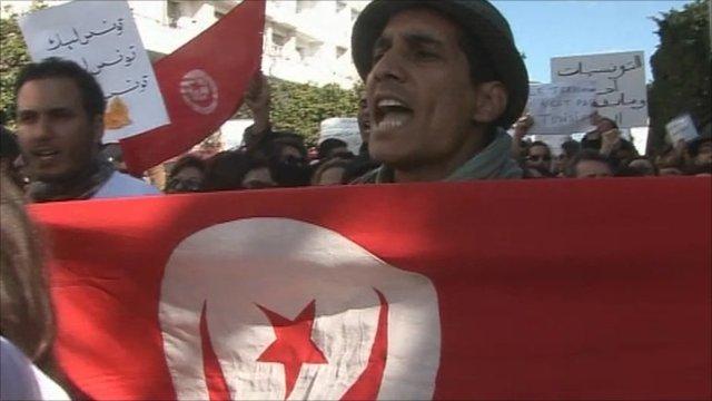 Rally in Tunisia