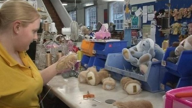 Sewing the teddy
