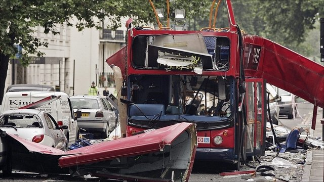 The bus bombed on the 7th July 2005