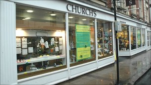 Church's shop in Northampton.