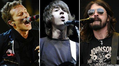 Chris Martin, Alex Turner, Dave Grohl