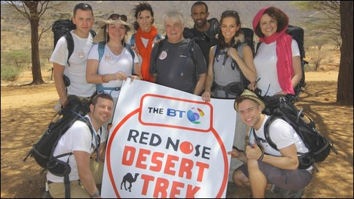 Comic Relief trek team