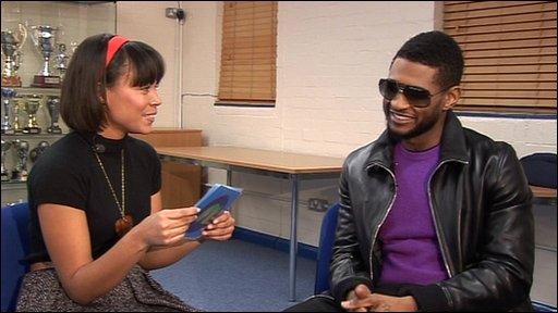 Leah meets Usher