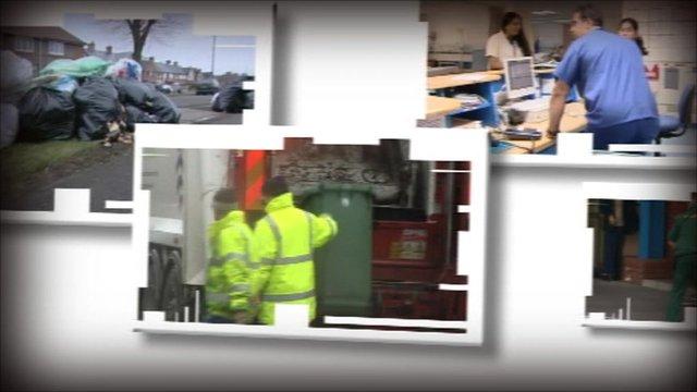 Montage of public services