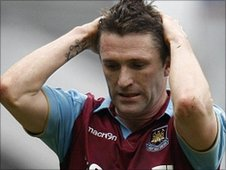 West Ham striker Robbie Keane