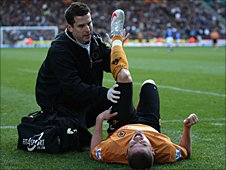 Wolves' Michael Kightly receives treatment
