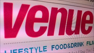 Venue magazine logo