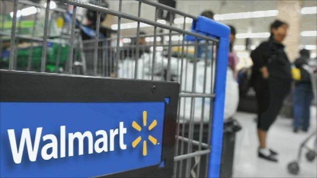 A Wal-Mart trolley