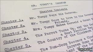 Contents page of Mr Tumpy's Caravan by Enid Blyton