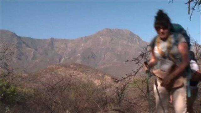 Celebrities beginning their desert trek