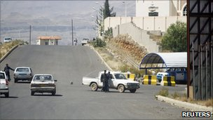 Roadblock in Sanaa