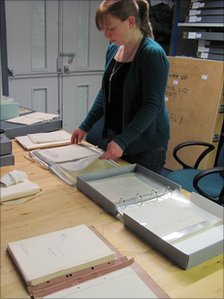 Seven Stories archivist Hannah Green