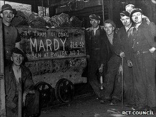 Maerdy miners in 1952